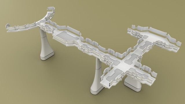 3D Printable Alien Tau-Style Scenery for Tabletop Wargames by Sean H