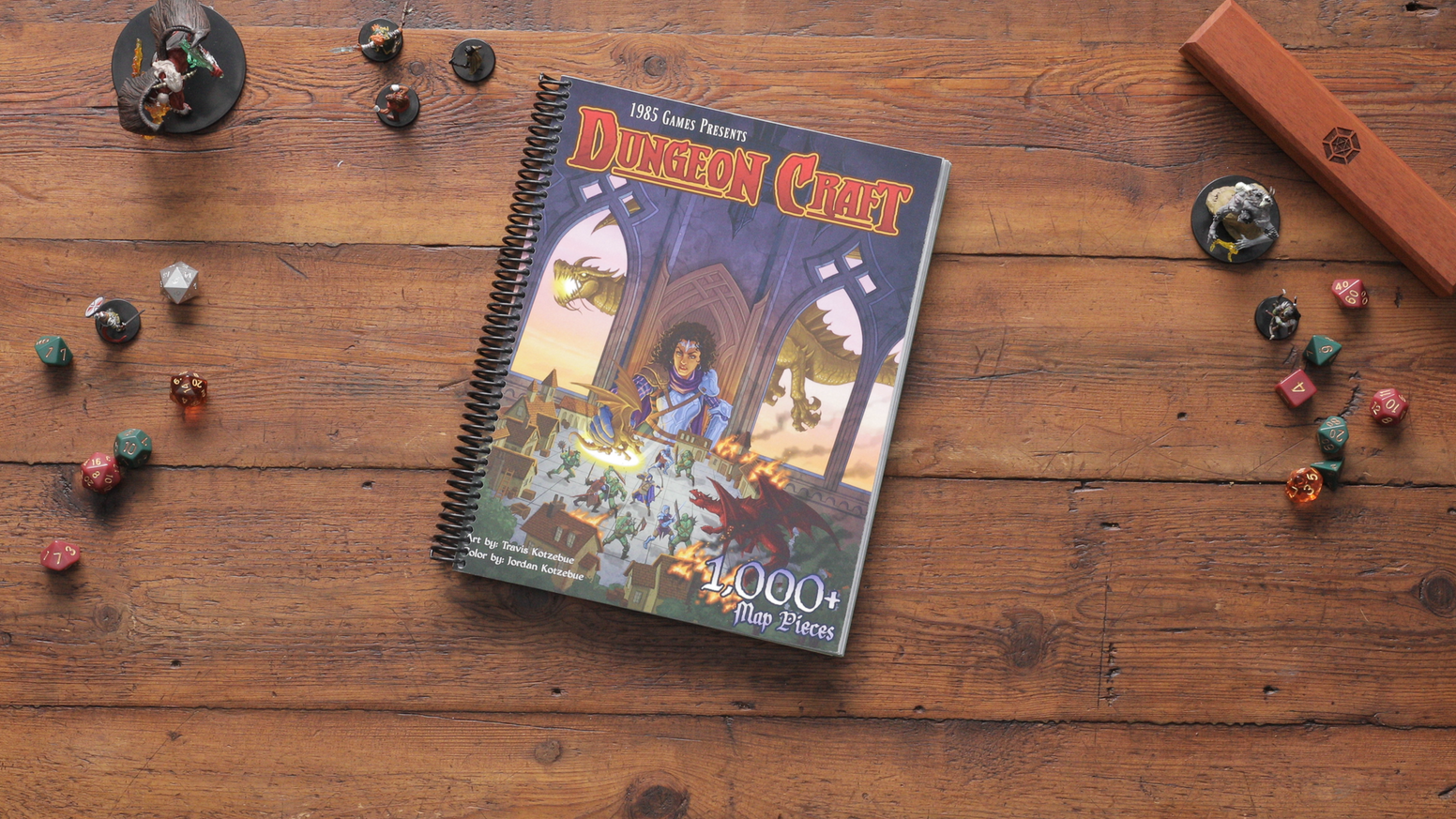A book that has over 1,000 terrain pieces for you to use in Dungeons & Dragons.