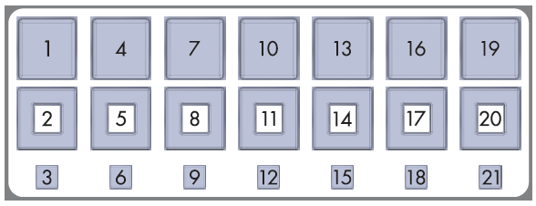 Example of order of play