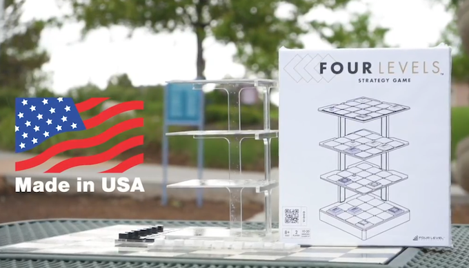 Both retail and acrylic cut versions of Four Levels to be Made in USA