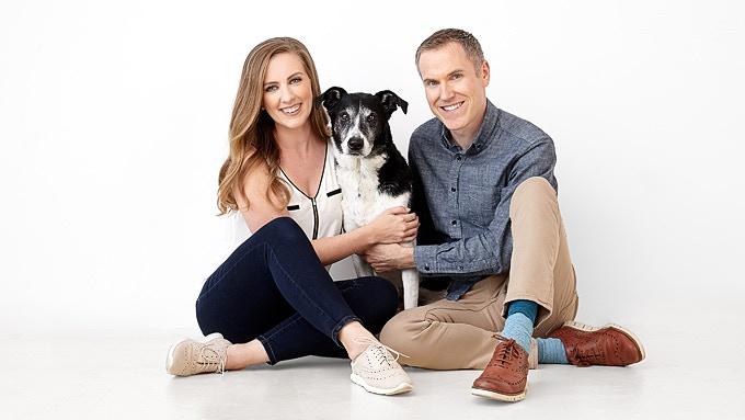 Kelly, Ian and their dog, Dillon