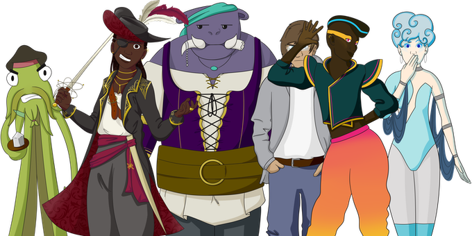 The inhabitants of firefly, a planet of bandits, outlaws, and a hyper extroverted DJ.