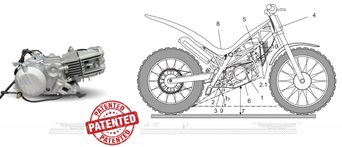 Engine and technical drawing of our patent U201900008 approved by the OEPM (Oficina Española de Patentes y Marcas)