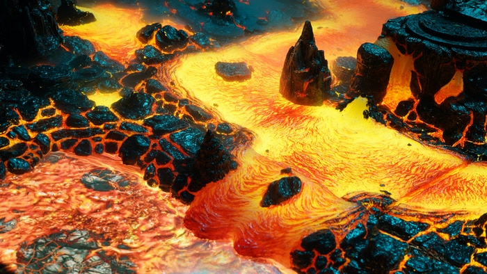 Hellscape - Modular Lava Terrain from Dwarven Forge by
