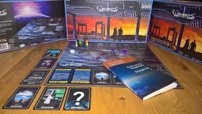 The book lying over the boardgame