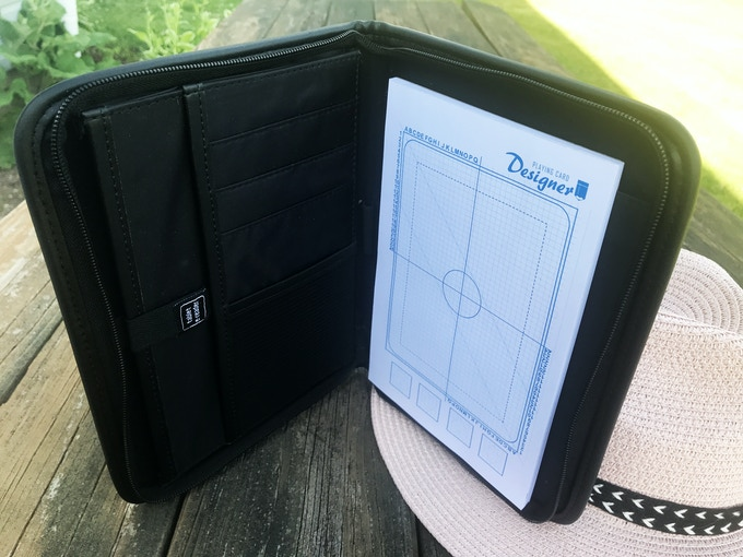 The Playing Card Designer Sketch Pad. The padfolio is sold as an add-on.