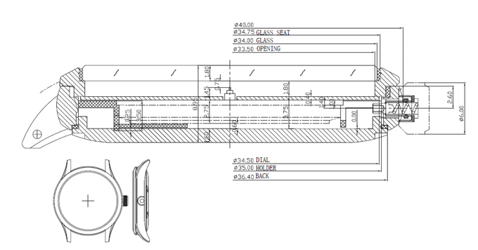 Technical Specifications for our backloaded 40mm automatic case