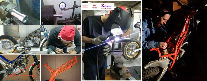 We mechanized and welded the frame and other parts