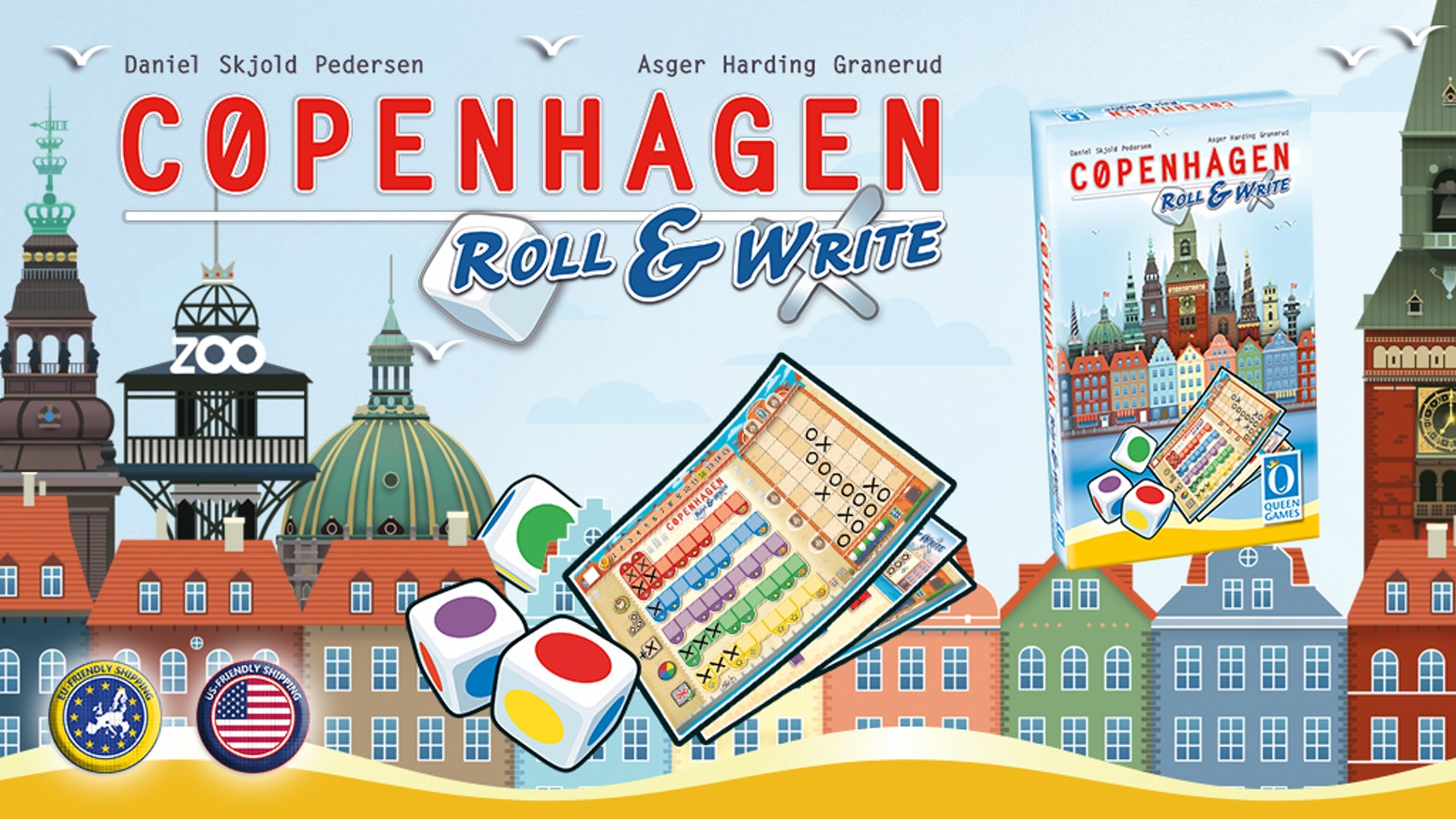 A simple to learn but thinky dice game for the whole family about building beautiful houses in Copenhagen.