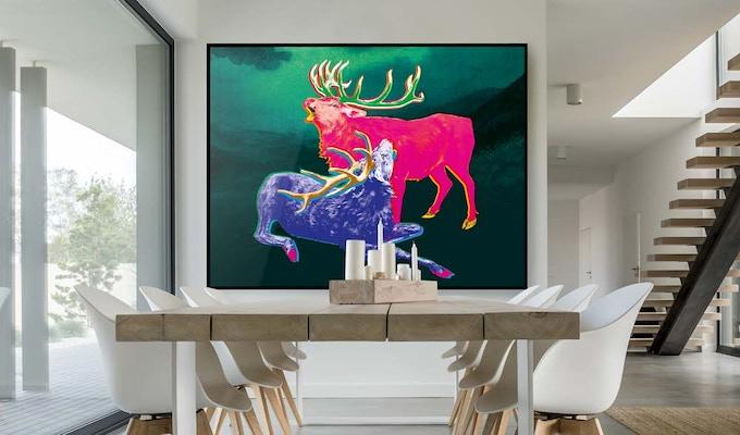Roaring Deer Series - design presented in a simulated environment.
