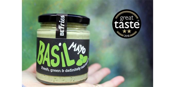Vegan Basil Mayo Awarded 2 Stars from the Great Taste Awards 2018