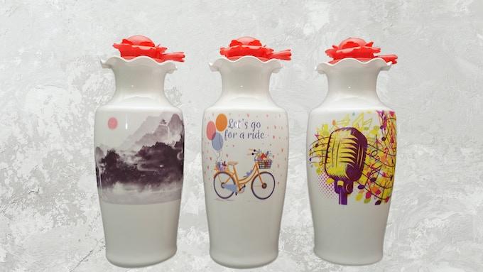 Elastic lotion pump with vase shaped Bottle B