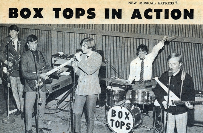 as lead singer of The Box Tops - 1967