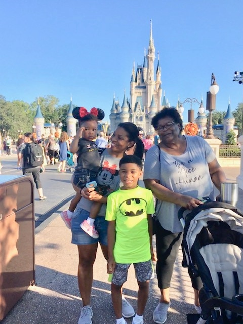 The Family at Disneyworld