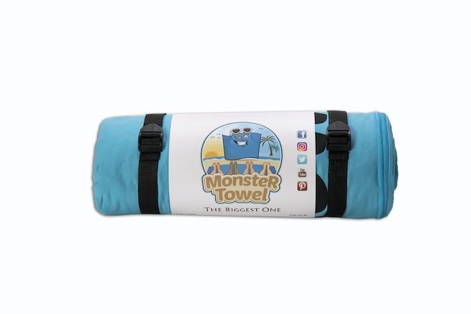 Monster Towel Aqua Blue