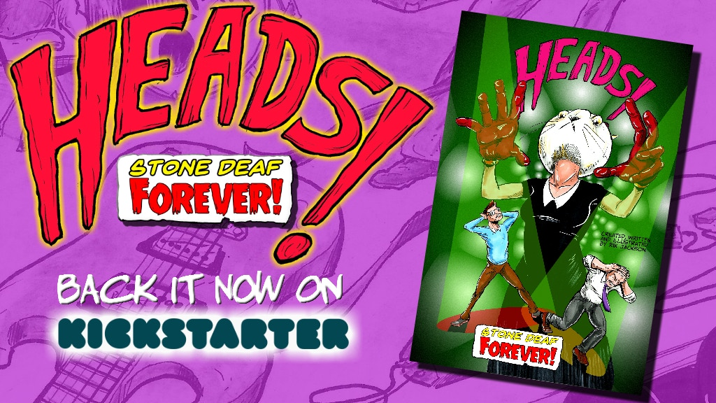 Heads Stone Deaf Forever Sci Fi Private Detective Comic