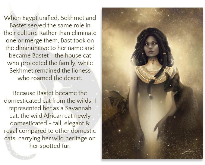 Bastet and Sekhmet - Egyptian Mythology Art Prints by