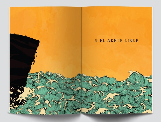 """Chapter 3 """"El Arete Libre"""" illustrated by Jasmin Menez"""