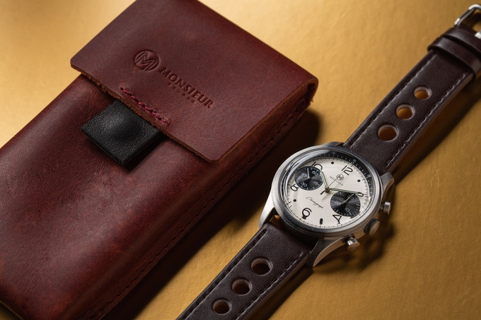 Calf leather case that comes with all Ranomo Chronograph watches