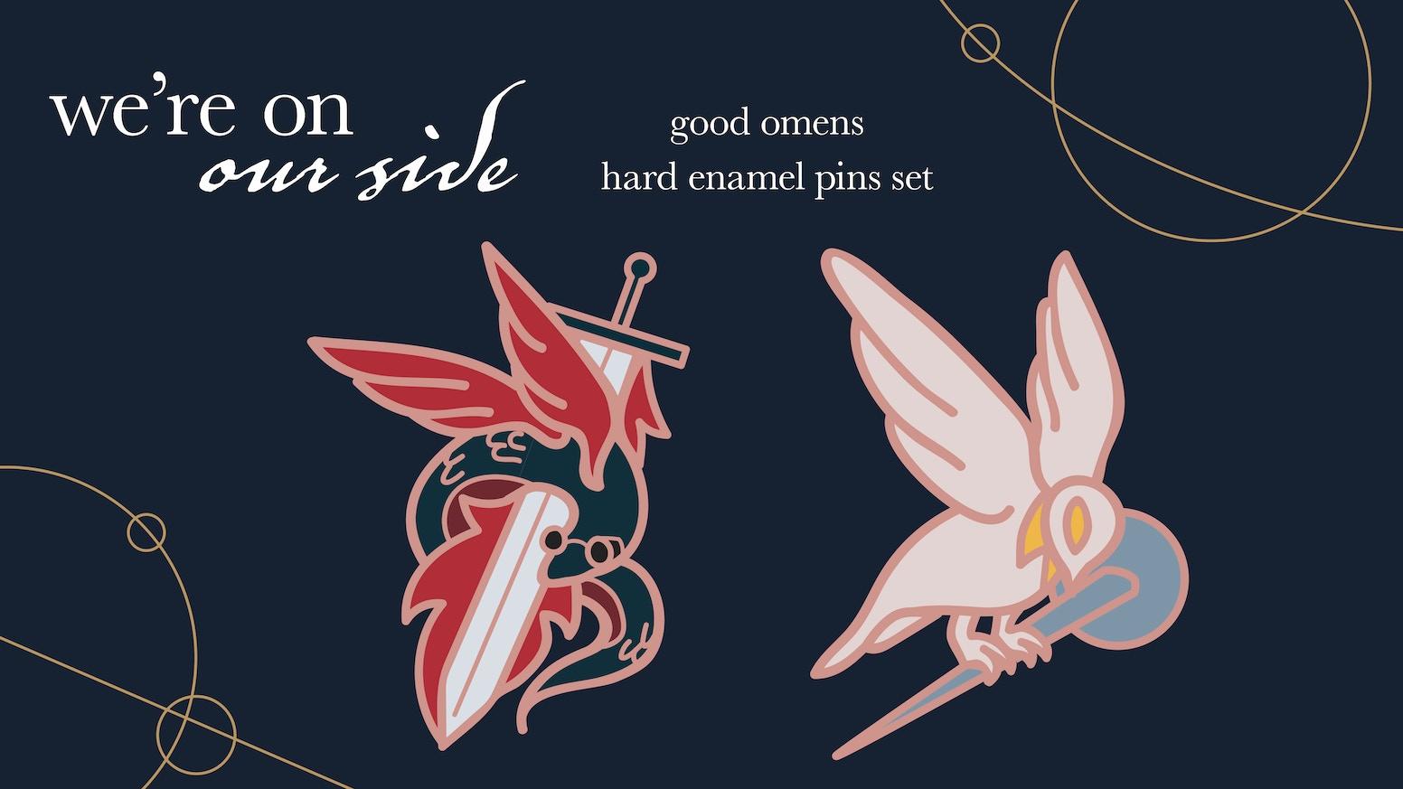 We're on our side - Enamel pin set by LittleRain — Kickstarter