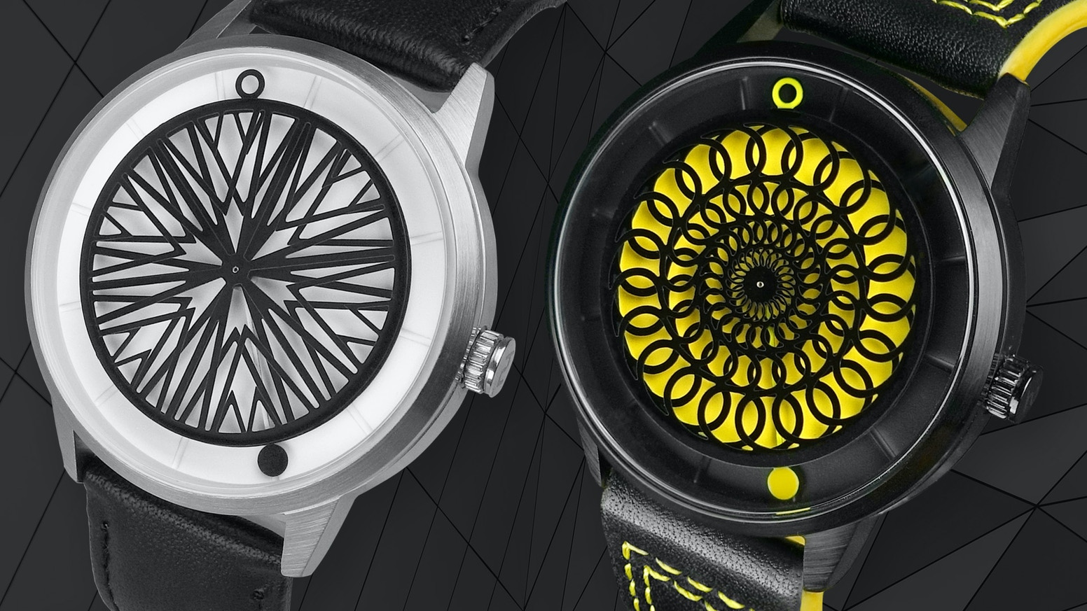 Unique automatic watches putting kinetic sculptures on your wrist. Powered by your own movement and crafted from premium materials.