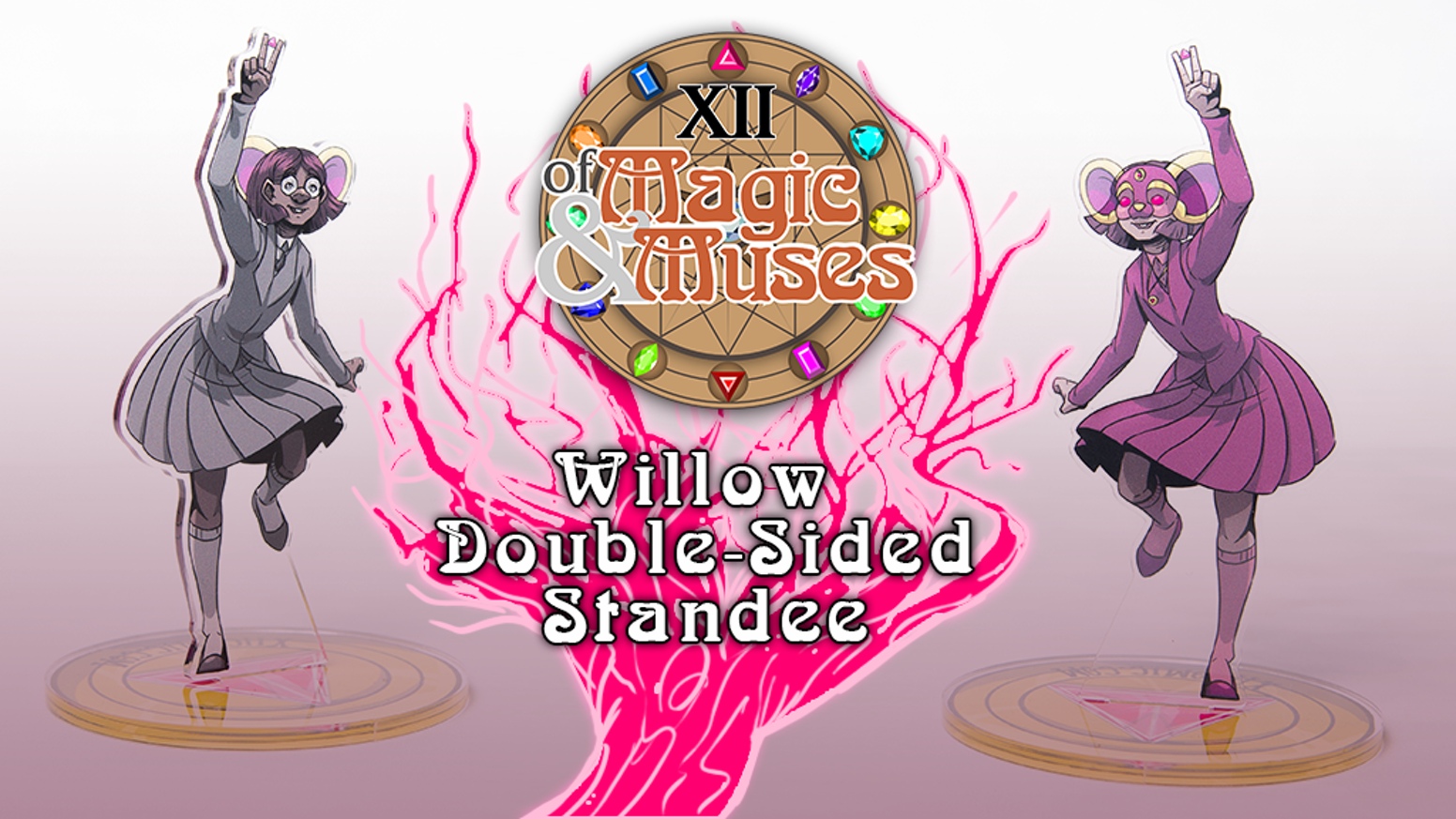 Our main magical girl from the webcomic XII: Of Magic and Muses to standee on your shelf.
