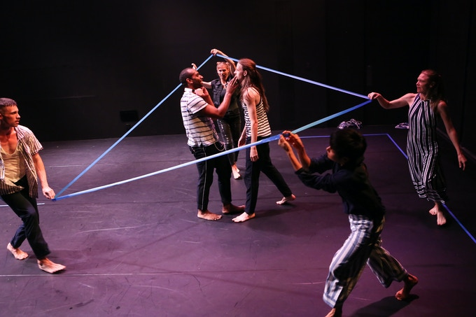 Blue Room (NYC Premiere 2018) Dancers: Kenneth Olguin, Nikolas Owens, Emily Pope, Jordan Morley, Mei Yamanaka, Tiffany Mills