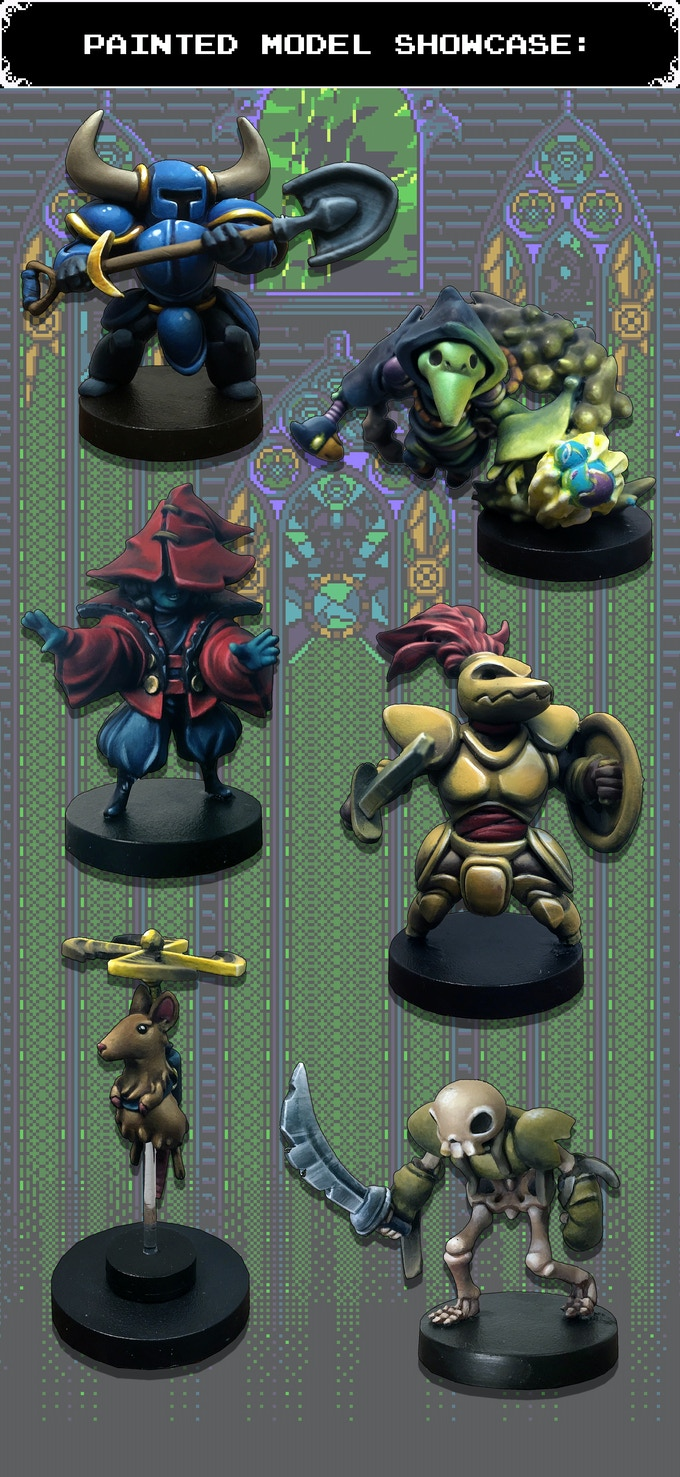 All Shovel Knight: Dungeon Duels models are painted by Elizabeth Beckley.