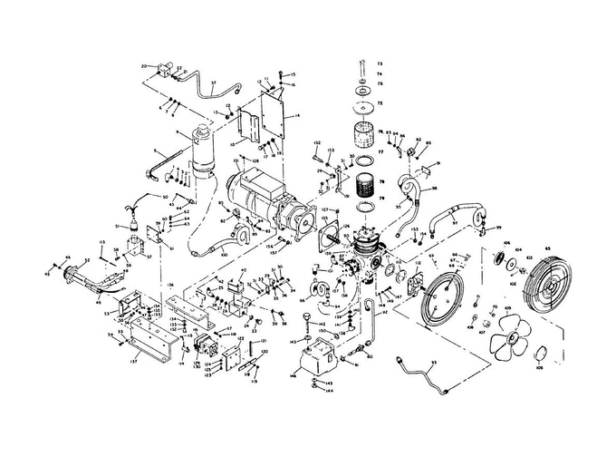 Typical reciprocating compressor internal parts