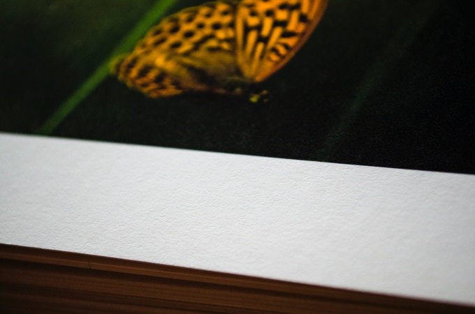 The photo prints are rendered on a thick archival paper created for extra rich photographic images
