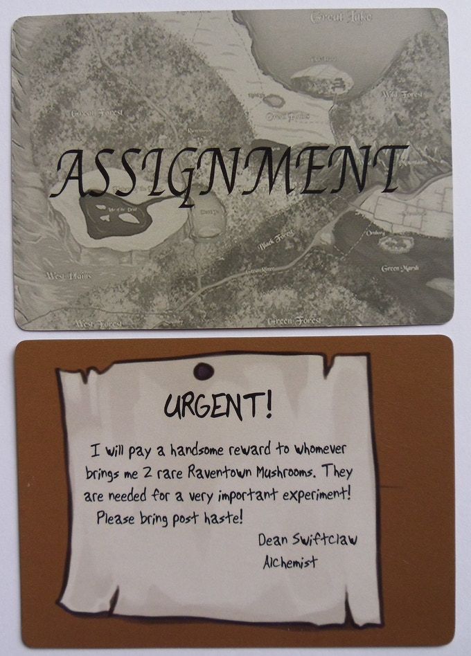 Assignment Card Sample