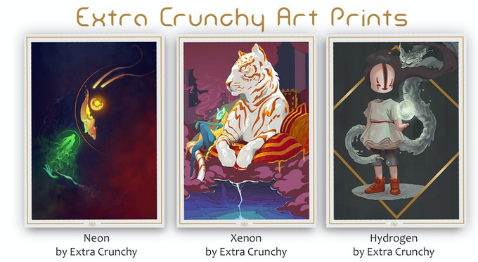 Limited Edition, Extra Crunchy Art Prints for Best Level 5 Concept