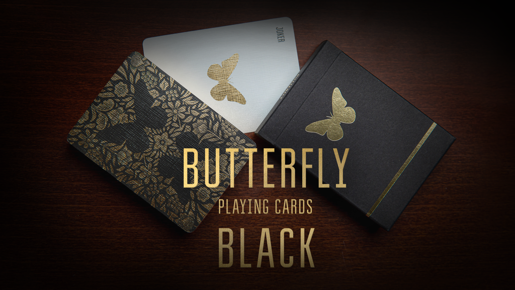 Butterfly Playing Cards Black project video thumbnail