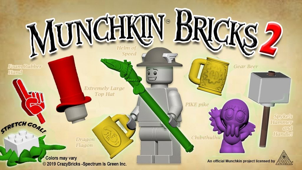 MUNCHKIN® BRICKS 2 Accessories for your miniature figures project video thumbnail