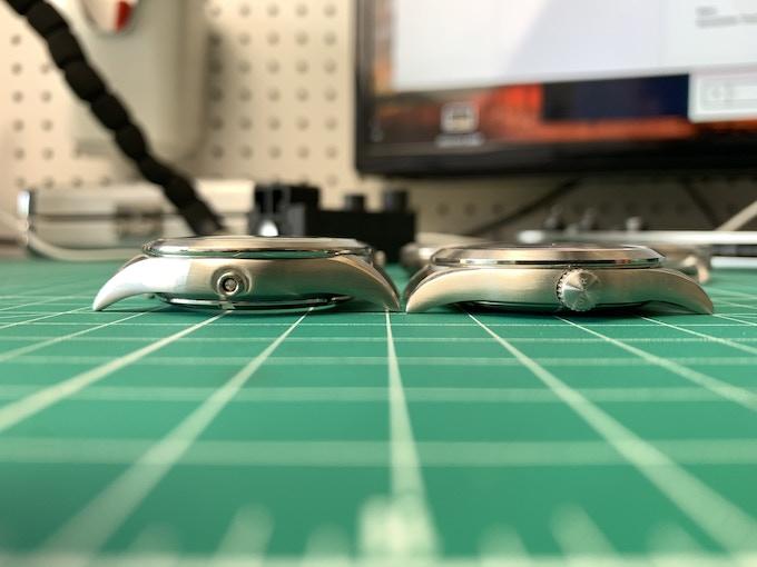 Original Prototype (left) decreased from 14mm to 9mm