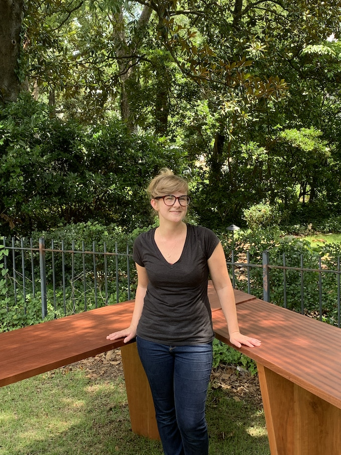 The table for the Supper Table project was designed and built by Columbia artist Jordan Morris