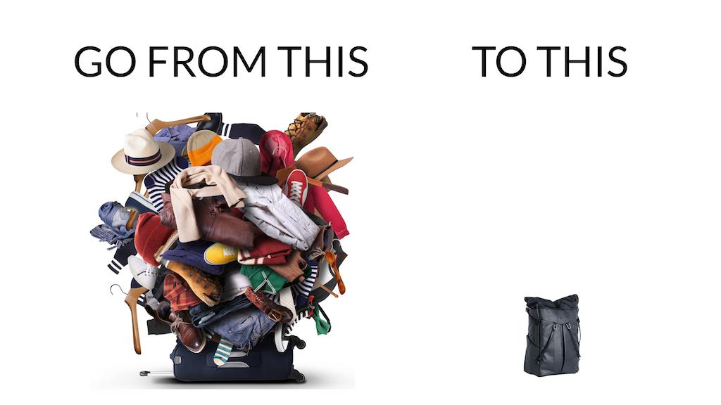 10日間の長期旅行であっても着の身着のままで過ごせるから、劇的に荷物を減らす事ができる「T-shirt & Jeans」