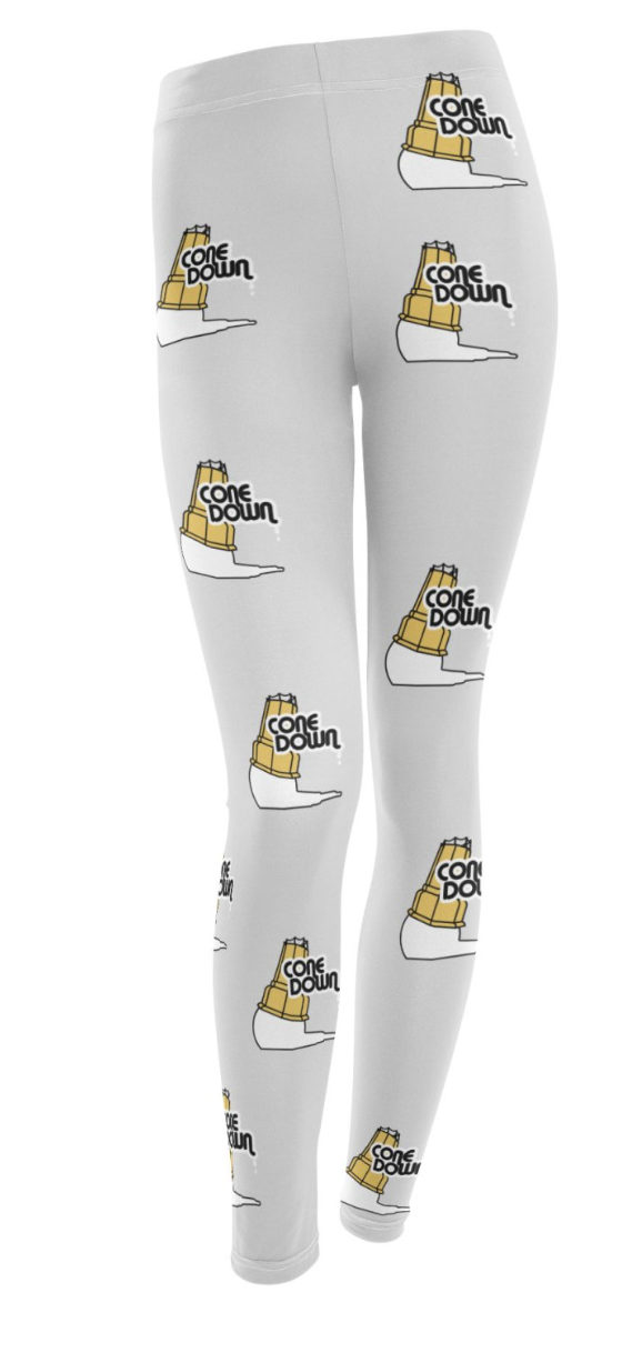 Need to show off your love of Cone Down and have legs that need covering? Then this is for you! We have designed custom leggings to celebrate this fallen ice cream cone.