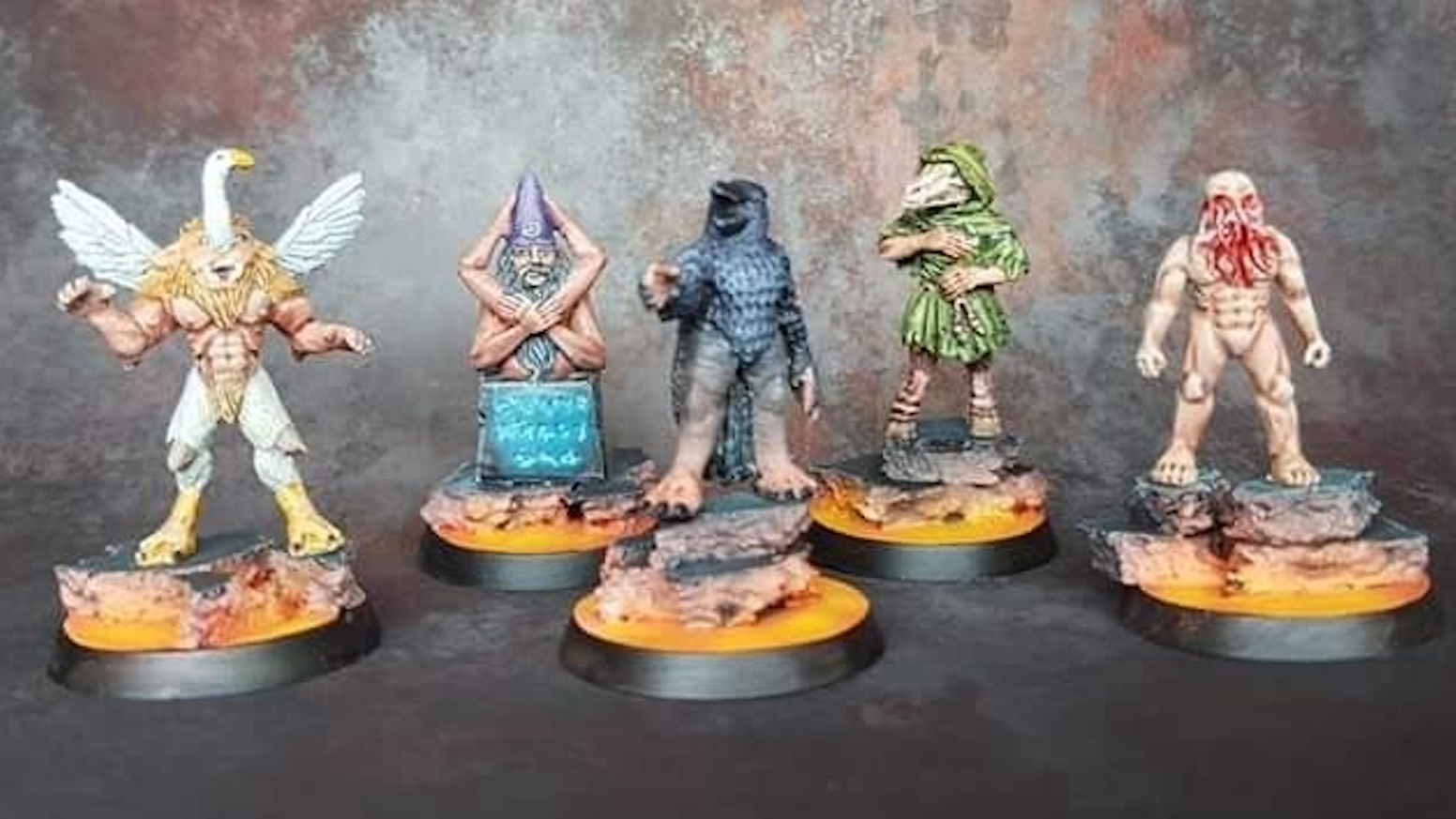 Hand sculpted 28mm Goetia Demon miniatures.