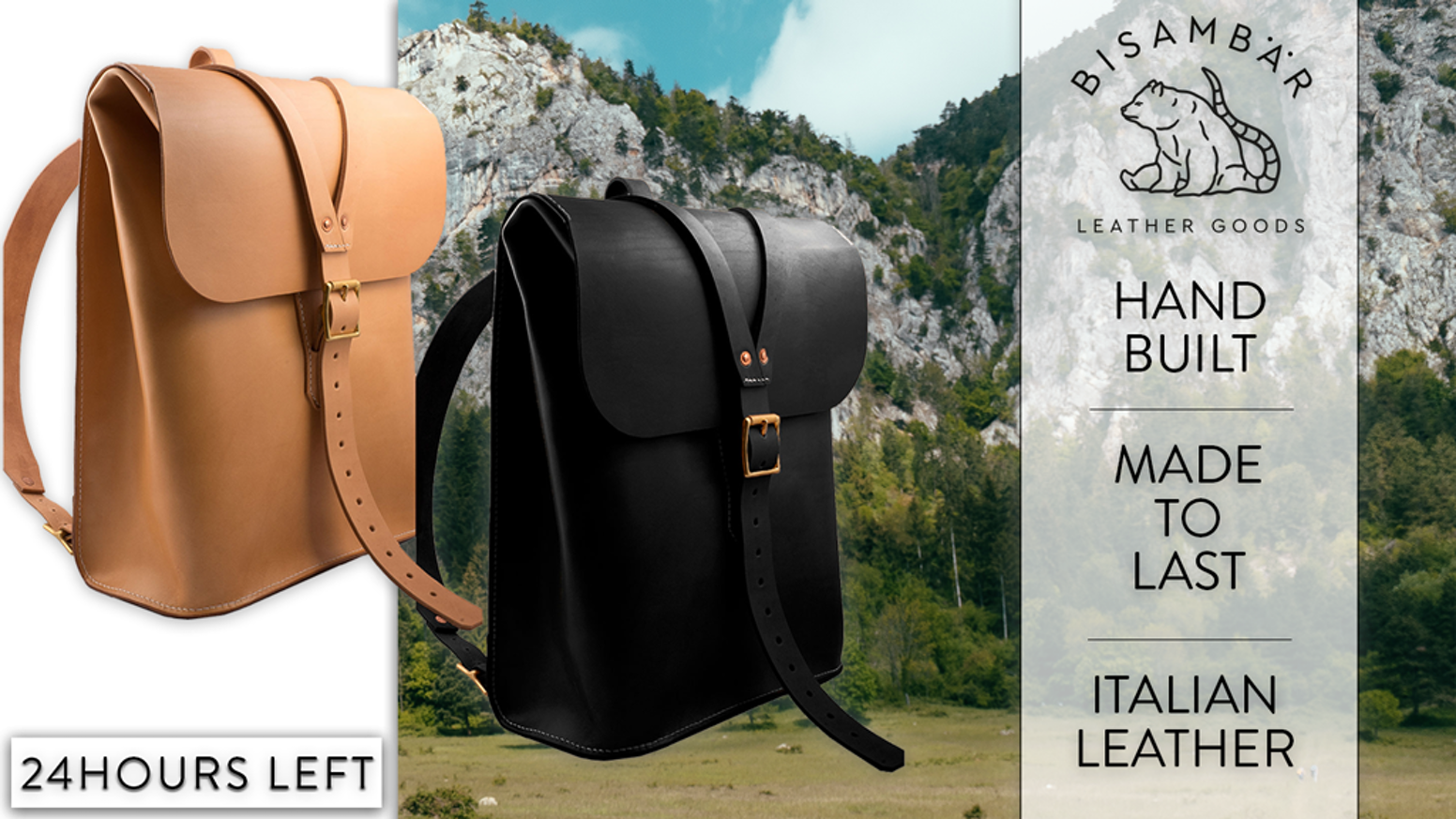 Built in Austria | Full-grain Italian leather | Eco-Friendly and sustainable | Minimalistic Design - This bag will last a lifetime!