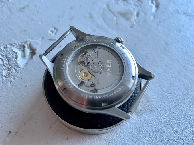 Miyota 9015 in the Vaer Automatic