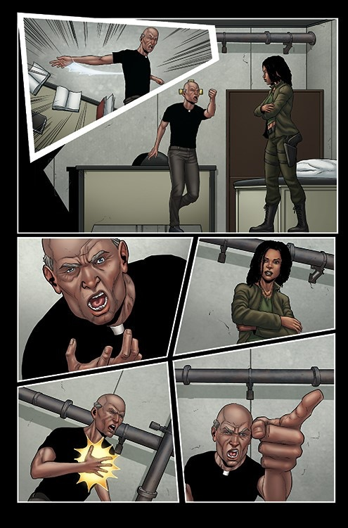 Jessica challenges her Bishop (from The Book of Issue 2)