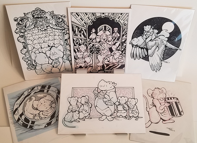 Original art by Daphne Lage available only through this Kickstarter