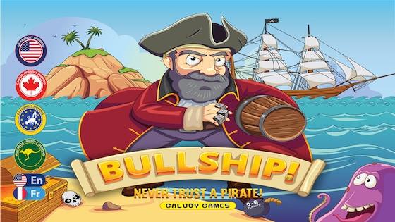 BULLSHIP! - Never Trust A Pirate! board game
