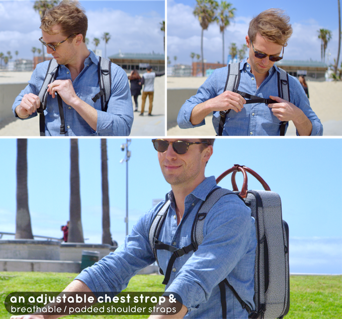 Chest strap is easily removable from the backpack straps when you don't need it.