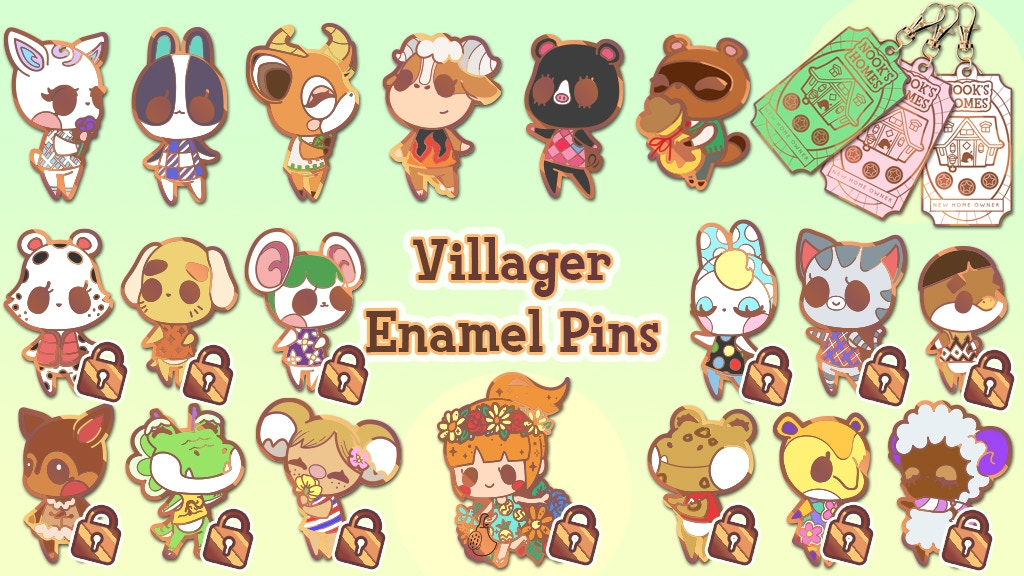 Project image for Animal Villager Enamel Pins