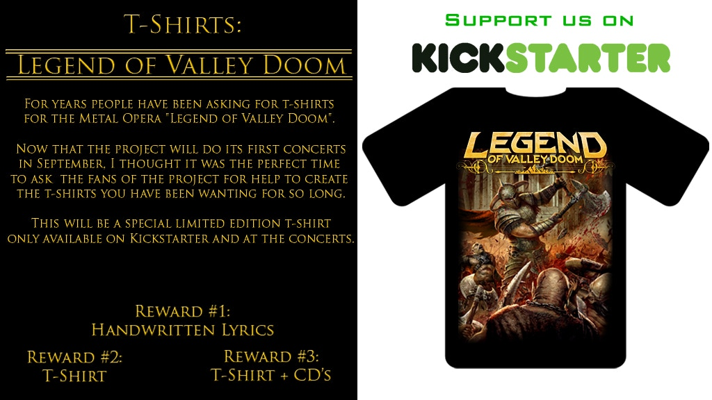 Project image for Legend of Valley Doom t-shirts