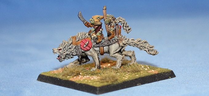 Giant Warg with Goblin Riders