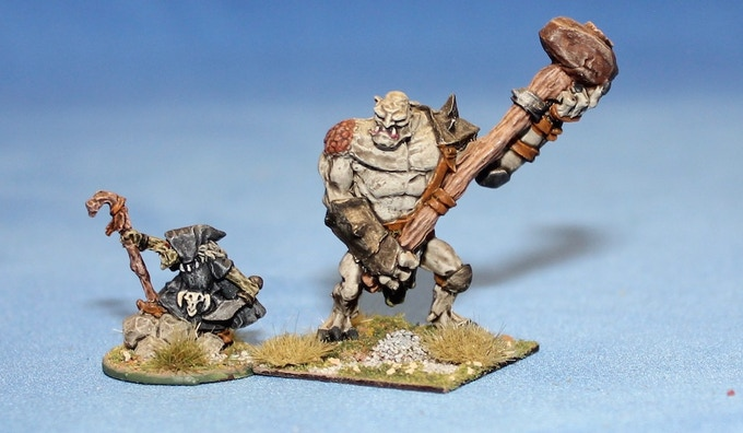 Giant Troll with Goblin Wizard