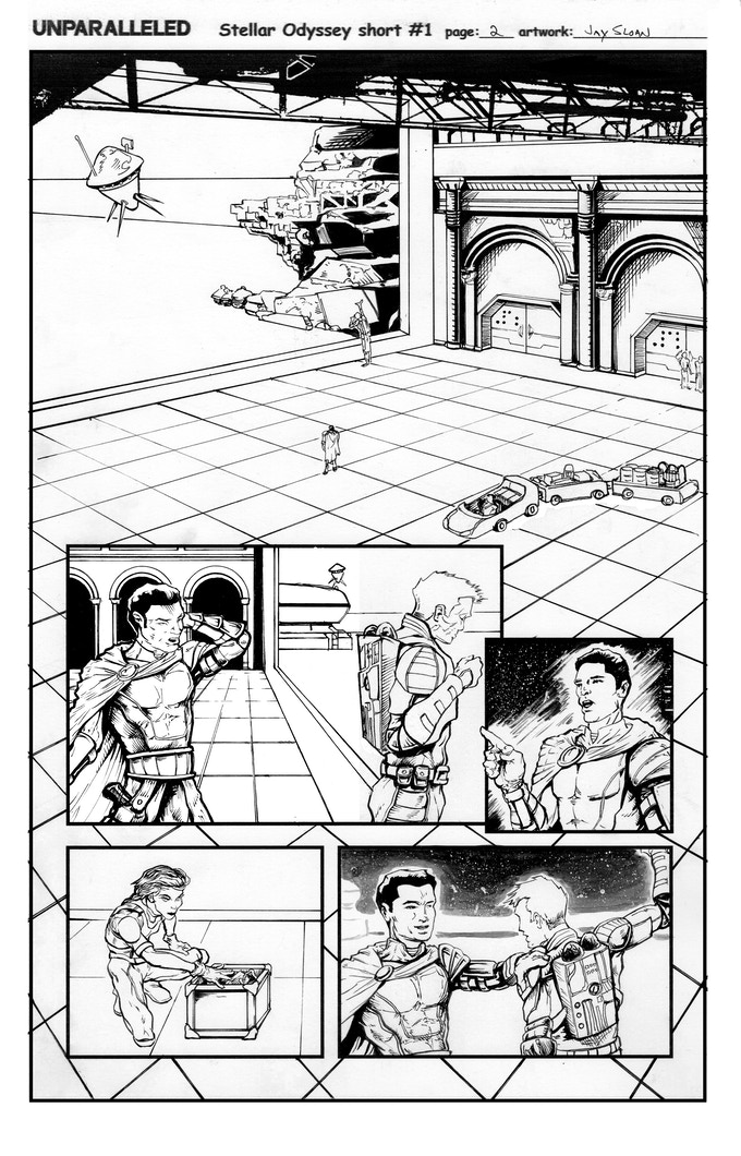 Page two inked art page